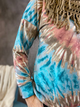 Load image into Gallery viewer, Bright Pullover Tie Dye Top - Jade