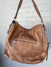 Load image into Gallery viewer, Victory Vegan Leather Handbag - CAMEL