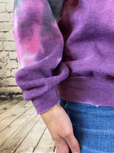 Load image into Gallery viewer, Oversized Distressed Tie Dye Sweatshirt