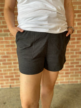 Load image into Gallery viewer, Cotton Drawstring Shorts - CHARCOAL