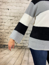 Load image into Gallery viewer, Fuzzy Wide Stripe Sweater