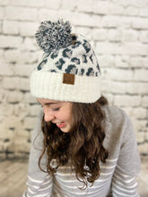 Load image into Gallery viewer, CC Leopard Pom Pom Hat