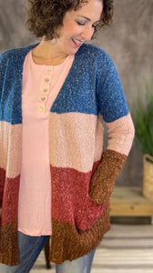 Sweetheart Colorblock Cardigan