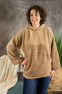 Soft Sherpa Pullover - Taupe