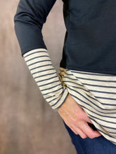 Load image into Gallery viewer, Cowl Neck Top with Stripe Detail