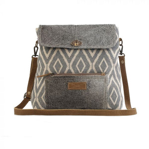 MYRA - Grainy Gray Shoulder Bag