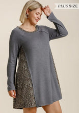 Load image into Gallery viewer, Curvy Waffle Knit Dress with Animal Detail