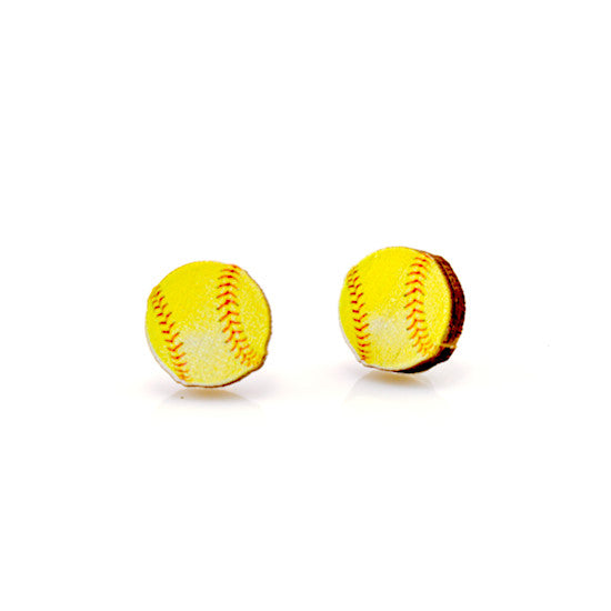 Green Tree Jewelry- Softball Earrings