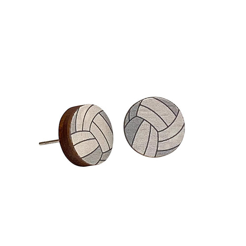 Green Tree Jewelry- Volleyball Stud Earrings