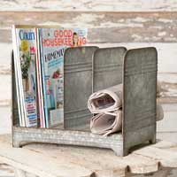 Galvanized Magazine Rack