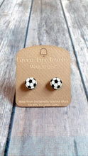 Load image into Gallery viewer, Green Tree Jewelry- Soccer Stud Earrings