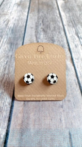 Green Tree Jewelry- Soccer Stud Earrings