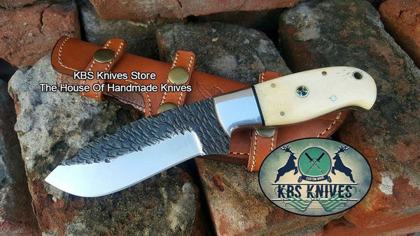 Custom Handmade Hand Forged 1095 High carbon Steel Hunting Skinning Knife