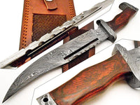 damascus steel rambo bowie