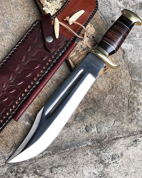 New Custom Handmade 440C Steel Heavy Duty Crocodile Dundee Hunting Bowie Knife