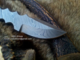 Hand Made Full Damascus Skinning Knife