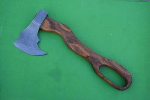 Hand Made Damascus Forge Axe