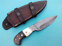 Hand Made Damascus Skinning Hunting Knife