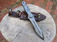 Full Tang Custom Handmade Damascus Steel Double Edge Hunting Dagger Knife