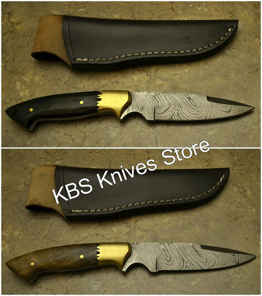 Hand Made Damascus Twist Pattern Blade Knives