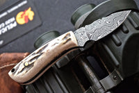 Damascus steel skinning knife
