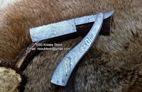 Hand Made Full Damascus EDC Straight Razor