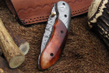Handmade Damascus Pocket Knife