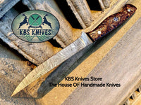 New Custom Handmade Damascus Steel Fillet / Boning Knife