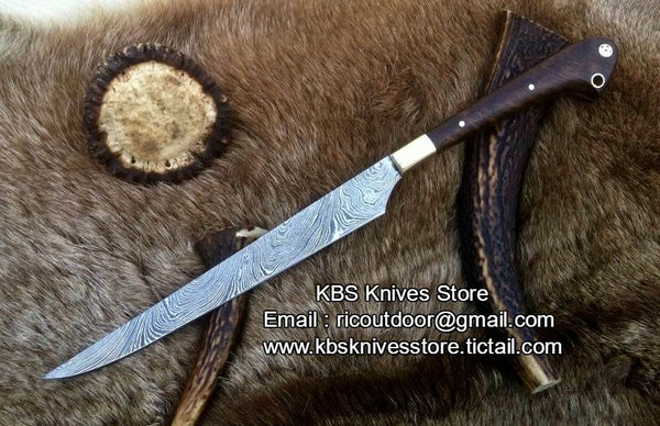 Hand Made Damascus Fillet Knife