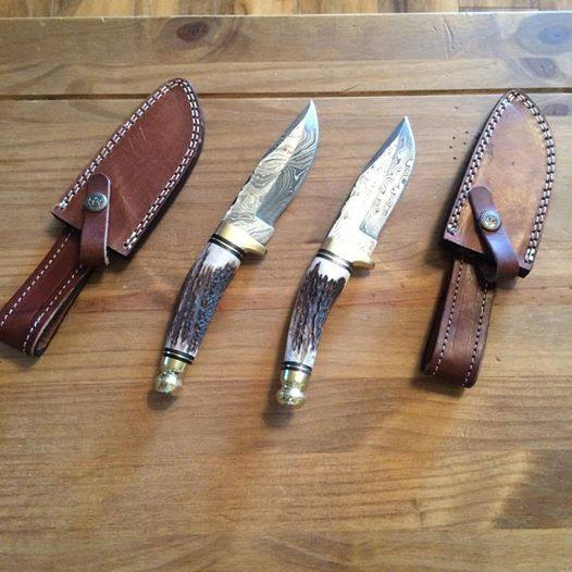 Damascsus Hunting And Skinning Knives