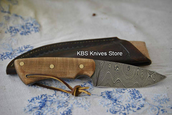 Full Tang Handmade Damascus Steel Skinner Knife
