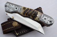 1095 High carbon steel folding knife