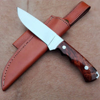 stainless steel handmade hunting/skinning knife