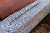 Handmade Damascus Steel Big Bowie Pig Sticker Knife