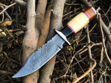 New Custom Handmade Damascus Steel Hunting Knife