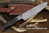 Hand Made Damascus Chef Knife