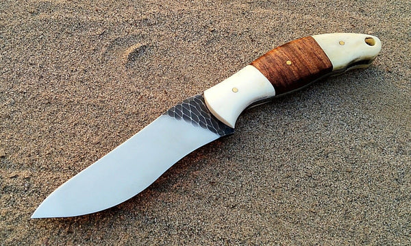 Custom Handmade Stone Texture Hand Forged 1095 High Carbon Steel Hunting-Skinning Knife
