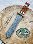 New Custom Handmade Damascus Steel Dagger Knife