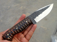 1048 HC steel hand forged hunting knife