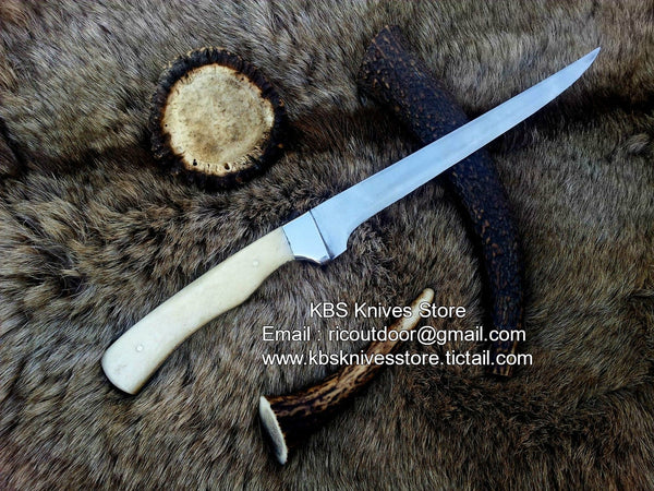 Hand Made D2 Flexible  Steel Fillet Knife