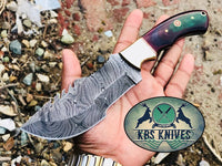 Full Tang Custom Handmade Damascus Steel Tom Brown Tracker Knife