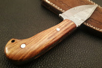 Hand Made Damascus Full Tang Skinning Knife