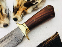 New Custom Handmade Raindrop Pattern Welded Damascus Steel Hunting Knife