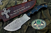 Custom Handmade Damascus Steel Tracker Knife