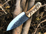 New Full Tang Custom Handmade 1095 Steel Skinner Knife
