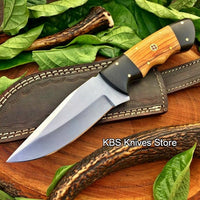 Full Tang Custom Handmade D2 Steel Hunting Camping Knife