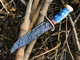 New Custom Handmade Damascus Steel Hunter Bowie Knife