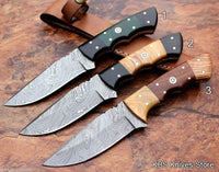 Full Tang Hand Made Twist Damascus Skinning Knives