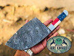 Full Tang Custom Handmade Damascus Steel Siberian Kitchen Knife