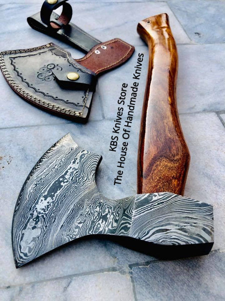Heavy Duty Custom Forged Damascus steel Viking Tomahawk/Axe